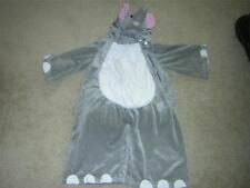 PLAYFUL PLUSH Elephant Soft Furry Child's Halloween Costume Size 2-4