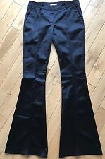 Burberry Mickfield 100% Silk Flair Trousers Suit Pants UK 8
