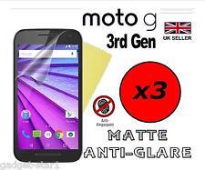 3x Hq Mate Anti Glare Screen Protector Tapa Protector Para Motorola Moto G 3ª Gen