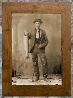 Outstanding... Young Man Holding Trout , Fishing ... Antique 5x7 Photo Print