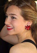Kate Spade Blooming Brilliant Neutral Floral Earrings DEEP PINK HUGE FLOWERS!