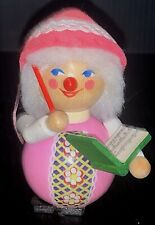 STEINBACH Germany Wood Christmas Ornament Choir Conductor Pink Hand Made