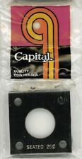 Capital Plastic Holder For 1 Seated Quarter Coin 2x2 Black Display Case New Gift
