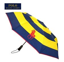 Ralph Lauren Automatic Umbr New With Tags Blue And Yellow Striped RRP £49.99