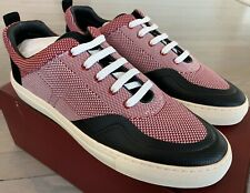 $550 Bally Heckie 37 Red Nylon Sneakers size US 9.5