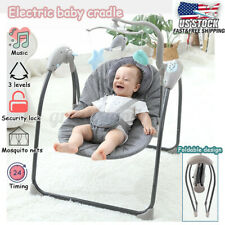 Baby Electric Auto Swing Infant Cradle Mosquito Net Musical Sleeping Chair Seat