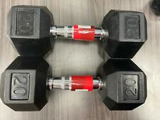 Weider Hex Rubber 20 lb Pair of Dumbbell Weights ( 40 lbs total ) In Stock!