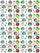 Pokemon Personalised Birthday Gift Wrapping Paper ADD NAME/S CHOOSE BACKGROUND