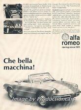 1967 Alfa Romeo Spider Duetto Original Advertisement Print Art Car Ad J805