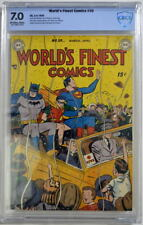 WORLD'S FINEST COMICS #39 CBCS 7.0 Superman Batman 1949 CGC Only 2 Higher Graded