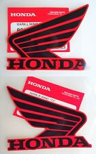 GENUINE HONDA WING FUEL TANK STICKER DECAL 85mm BLACK / RED **UK STOCK**