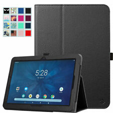 For Onn 10.1 inch Tablet Case PU Leather Protective Stand Cover w/ Pencil Holder