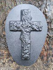 Mold plaster concrete abs plastic ivy cross mold garden casting mould