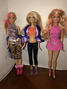 Barbie Doll Lot - Candy Glam Doll W/ Fashion Fever outfits EUC