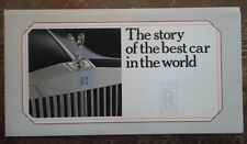 ROLLS ROYCE 1985 UK Mkt Story of the Best Car in the World Publicity Brochure