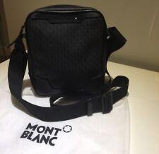 Authentic Men's Mont blanc Small Messenger Shoulder  Bag Black