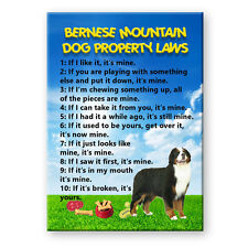 BERNESE MOUNTAIN DOG Property Laws MAGNET Steel Cased