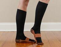 Copper Compression Socks Support Stockings 20-30 mmHg Men Women S-XXL (1-3 Pair)