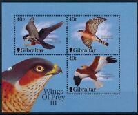 Gibraltar 2001 MNH SS, Birds of Prey, Falcon, Eagle -