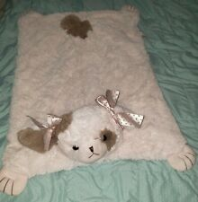 BEARINGTON BABY Girl Pink Plush Puppy Dog Belly Blanket WIGGLES Lovey SUPER SOFT