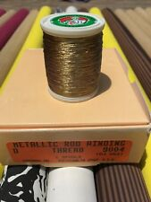 Gudebrod Ht Metallic Fishing Rod Winding thread  Size D, Color Ole Gold  9004.