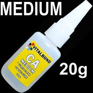 Vitalbond CA Medium 20g Super Glue 20 Sec Cure Model Plastics,Metal,Balsa Wood
