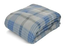 Baby Blue Fleece Throw Blanket Plaid Warm Soft SAME DAY SHIP ! 2-3 DAY ! Holiday