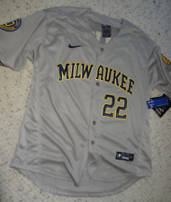 #22 Christian Yelich Milwaukee Brewers Men's Jersey Size Large