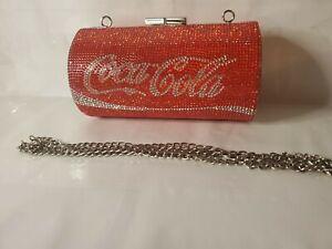 Coca Cola  Swarovski Crystal Rhinestone Coca Cola Clutch Purse