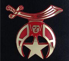 Masonic Shriner Car Auto Emblem - Molded Plastic (Red & Gold)