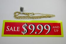 "NEW 14k Karat Gold Filled 10.5"" Adjustable Anklet Ankle Bracelet"