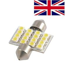 Bright White 16 SMD LED Car Interior Festoon Dome Light Bulbs 31mm DE3175 DE3022