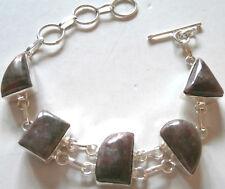 BRACCIALE ARGENTO INDIANO E DIASPRO GRIGIO silver jasper bracelet X3