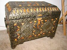 Middle Eastern Handmade Chest, Trunk Excellent Condition!