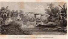 AMBOINE AMBON RIVIERE BATOUR MERA PONT BRIDGE RIVER INDONESIA IMAGE 1872 PRINT
