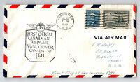 Canada 1949 FFC Vancouver to Fiji - Z13040