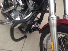 BLACK Harley Engine Crash Guard Highway Bars Dyna street fat bob switchback fxdb