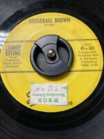 "Lonnie Irving Rockabilly 45 ""Gooseball Brown"" on Starday VG SEE & HEAR!"