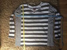 Atmosphere Mixed Striped Ladies Top (Black & White) Size XS