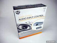 B-TECH BT31/S 3-Wege Audio Eingangssteuerung (Cinch Stecker) Umschalter, Silber
