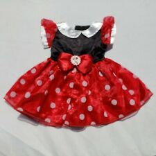 Disney Baby Girls Minnie Mouse Infant Costume Size 3-6 Months Polka Dot Dress