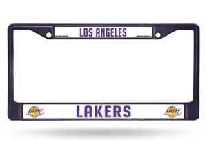 Los Angeles Lakers NBA Licensed Purple Painted Chrome Metal License Plate Frame