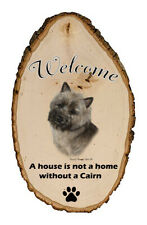Outdoor Welcome Sign (Tb) - Brindle Cairn Terrier 51326