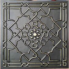 PL09 faux tin PVC ceiling tiles classic bronze 3D Decorative panels 10tiles/lot
