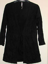 SAINSBURY'S TU WOMEN'S BLACK TOP 50% COTTON 50% POLYESTER INNER AND OUTER LAYER