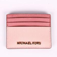 3ea6429f0430 NEW Michael Kors Jet Set Travel LG Leather Card Holder Case PSTLPINK ROSE