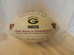 Green Bay Packers Printed Team Signatures Football 1996 Super Bowl Champions