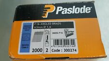 PASLODE 300274 16g X 63MM ANGLED BRAD FUEL PACK 2000 PER BOX 2 FUEL CELLS