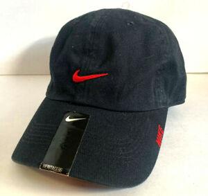 NEW! NIKE Unisex Heritage86 Adjustable Hat/Cap-Black/Red 20555495