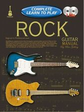 COMPLETE LEARN TO PLAY Rock Guitar Manual + CDs*